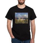 Tiger on the Beach Dark T-Shirt
