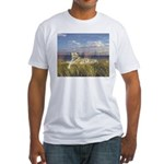 Tiger on the Beach Fitted T-Shirt