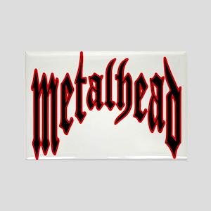 metalhead red logo FINAL Rectangle Magnet