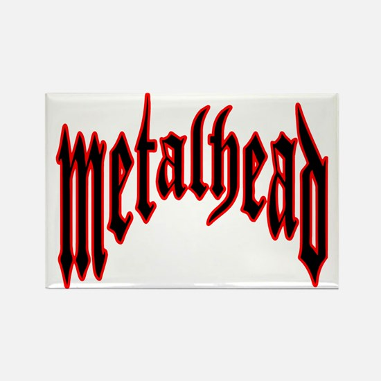 metalhead red logo FINAL Rectangle Magnet