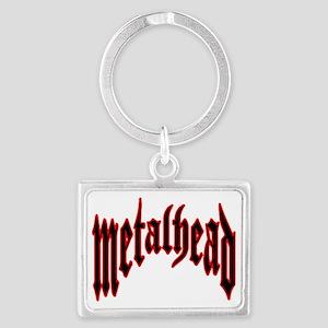 metalhead red logo FINAL Landscape Keychain
