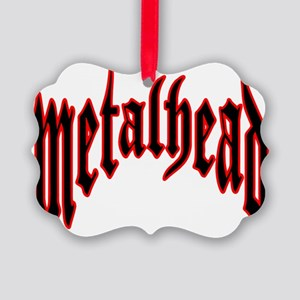 metalhead red logo FINAL Picture Ornament