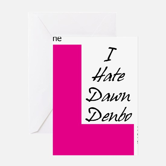 i hate dawn dark text Greeting Card