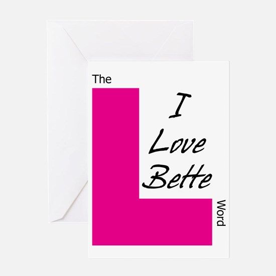 i love bette dark text Greeting Card