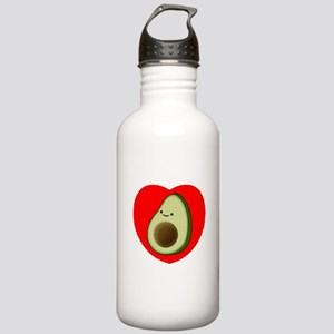 Cute Avocado In Red He Stainless Water Bottle 1.0L