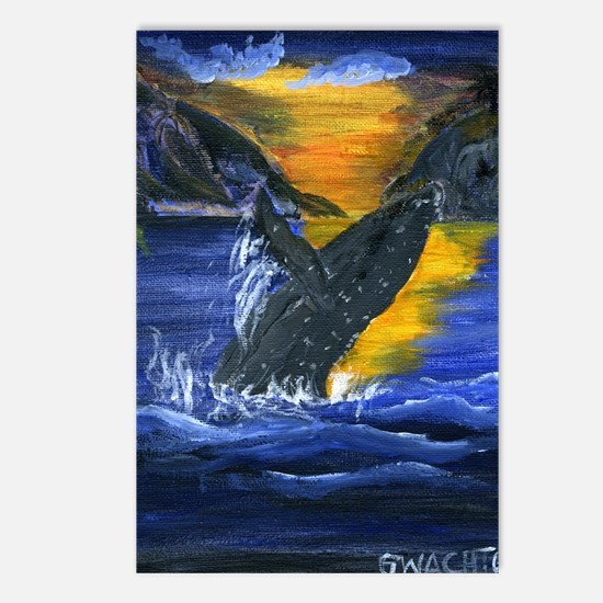 Whale at Sunset Postcards (Package of 8)