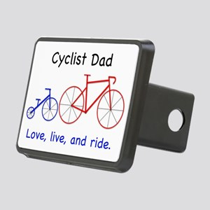 Cyclist Dad Logo 5 300 w:  Rectangular Hitch Cover