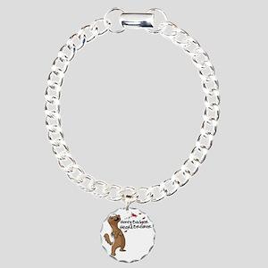 Honey Badger Heart Break Charm Bracelet, One Charm