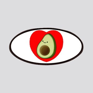 Cute Avocado In Red Heart Patch