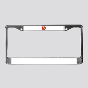 Cute Avocado In Red Heart License Plate Frame