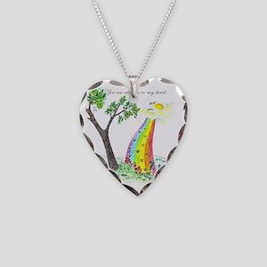 rainbow bridge 2 final Necklace Heart Charm