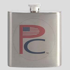 P  C, sm flag, on wht,7 copy-copy,6b Flask