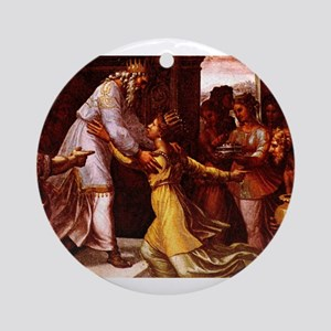 The Queen of Sheba - Raphael Round Ornament