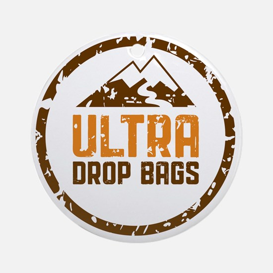 Ultra Drop Bags Logo Color Lg Round Ornament