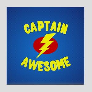 Captain Awesome Tile Coaster