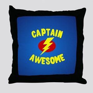 Captain Awesome Throw Pillow