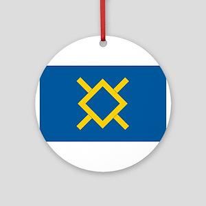 Northern Cheyenne Flag Ornament (Round)