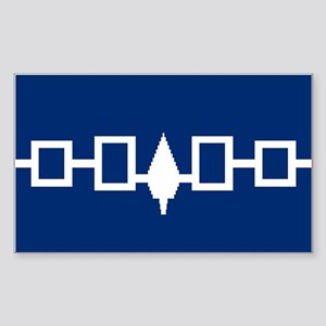 Iroquois Flag Rectangle Sticker