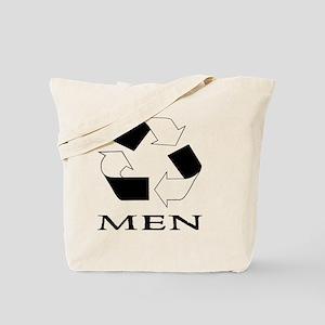 Recycle Men Black Tote Bag