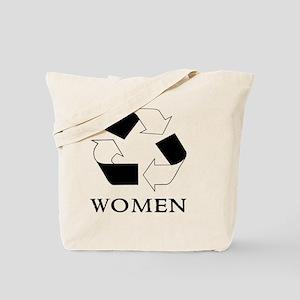 Recycle women Black Tote Bag