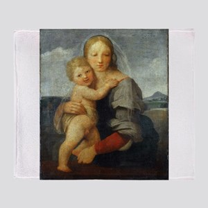 The Mackintosh Madonna - Raphael Throw Blanket
