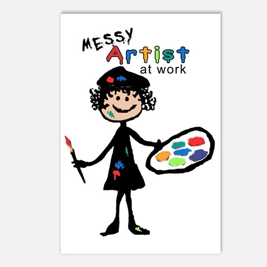 Messy Artist At Work Postcards (Package of 8)