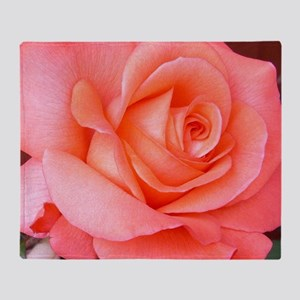 AFP 015a Rose coral clsup Throw Blanket