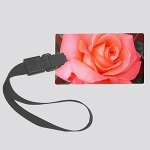 AFP 015a Rose coral clsup Large Luggage Tag
