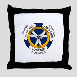 Crow Creek Sioux Flag Throw Pillow