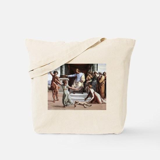 The Judgement of Solomon - Raphael Tote Bag