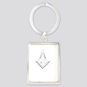 F A Masons Wisconsin white Portrait Keychain