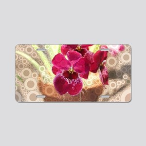 Orchid Aluminum License Plate