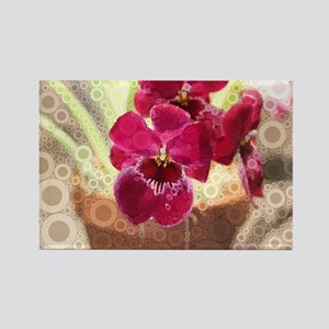 Orchid Rectangle Magnet