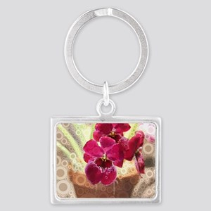 Orchid Landscape Keychain