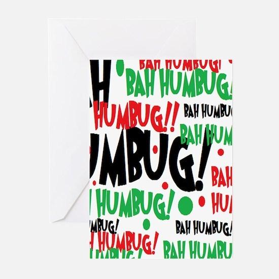 Bah Humbug Chr Greeting Cards
