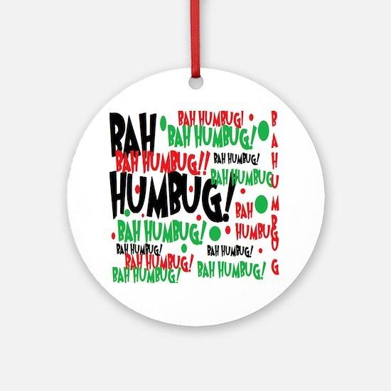 Bah Humbug Chr Ornament (Round)