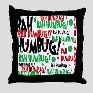 Bah Humbug Chr Throw Pillow