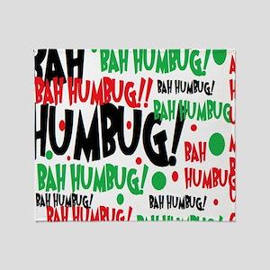 Bah Humbug Chr Throw Blanket
