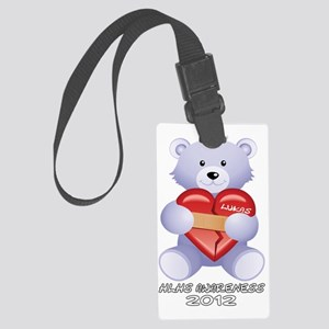 Lukas HLHS Awarenss White Letter Large Luggage Tag