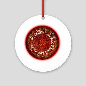 Mayan Calendar Sun Round Ornament