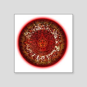 "Mayan Calendar Sun Square Sticker 3"" x 3"""