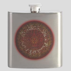 Mayan Calendar Sun Flask