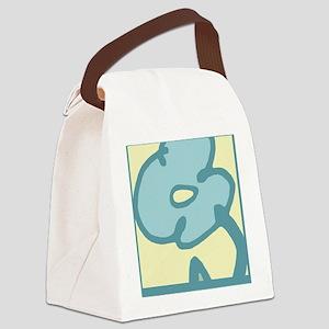 Aqua Flower for Journal Canvas Lunch Bag