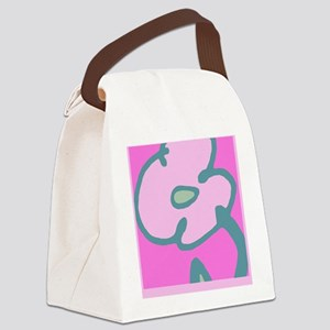 Pink Flower for Journal Canvas Lunch Bag