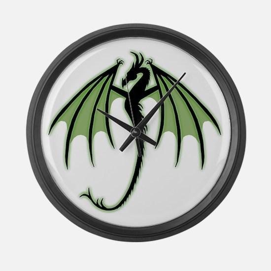Green Dragon Large Wall Clock