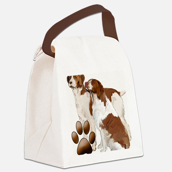 brittany spaniels2 Canvas Lunch Bag