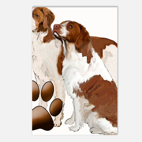 brittany spaniels2 Postcards (Package of 8)