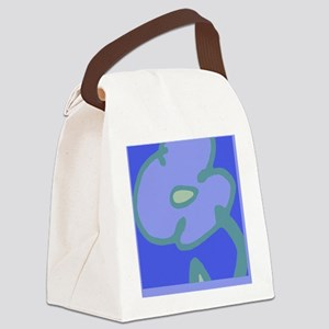 Blues Bloom for Journal Canvas Lunch Bag