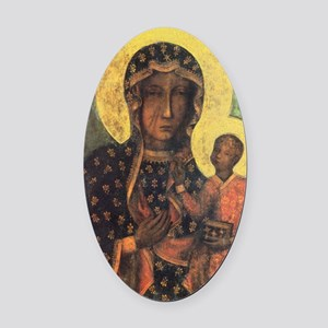 Our Lady of Czestochowa Oval Car Magnet