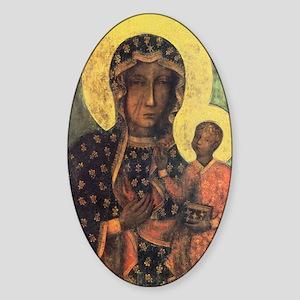 Our Lady of Czestochowa Sticker (Oval)